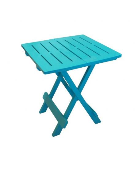 SupaGarden Plastic Folding Camping Table - Turquoise